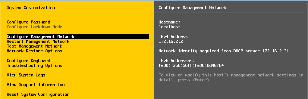 Гипервизор получил динамический IP-адрес