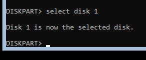 diskpart-Выбор диска