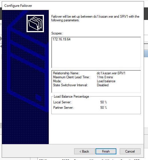 Завершение установки failover:mode-Load balancer